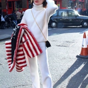 Red and White at London Fashion Week
