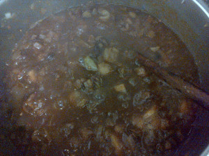 chutney stirring