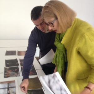 Luke and Brett curating the images that will be shown at the Accumul8 exhibition