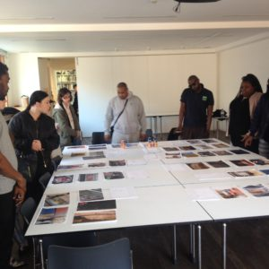 The Accumul8 group get to see what of their work has been chosen for the exhibition.