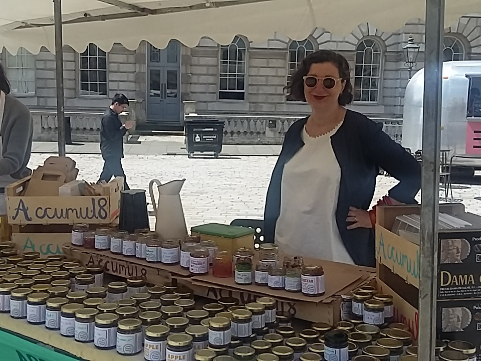 Marice selling Accumul8 Preserves with a Purpose at the Utopia Fair