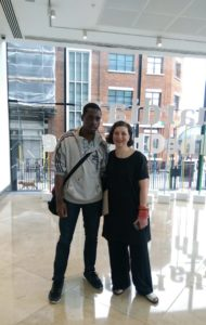 Sam Adesanya with Marice Cumber