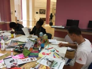Getting creative at the DECAY zine workshop