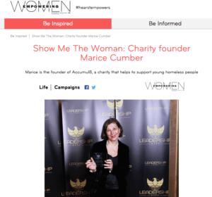 Empowering Women: Marice Cumber wins award: 2016